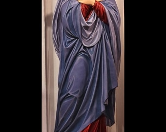 "Mother of Sorrows 72"" Fiberglass Sorrowful Virgin Mary Catholic Christian Statue"