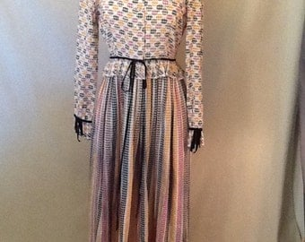 Vintage Anne Fogarty Maxi Dress