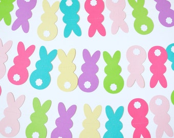 Easter Bunny Garland Spring Colors Rabbit Tails 6 Ft to 10 Ft Long