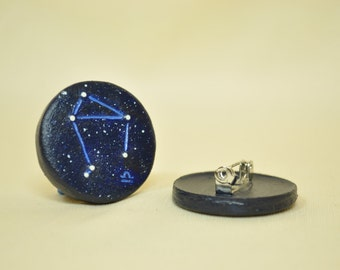 Libra GLOW in the DARK Zodiac Constellation Libra Pinback Button, Zodiac Pin, Horoscope, Astrology, Zodiac Signs, Libra Star Sign