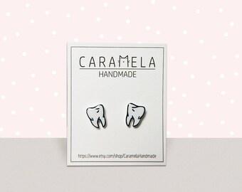 Tooth Stud Earrings Teeth Earrings Dental Earrings