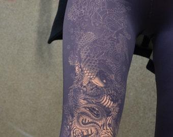 Unique Print Purple Leggings