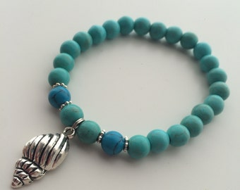 Natural Pearl with sea shell bracelet