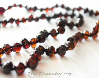 Adult Polished Cherry Baltic Amber Diffuser Necklace
