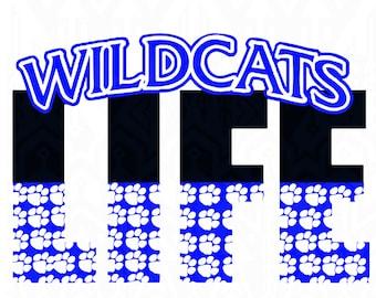 Wildcat,Kentucky Design, UK design, kentucky life, Wildcat, Kentucky, uk wildcats svg Life SVG Design Silhouette Studio Software