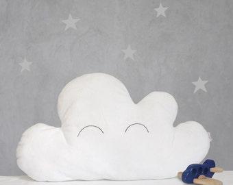 White cloud pillow - Handmade decorative throw pillow - nursery decor - kids room decor - baby bedding - children photo props - baby bedding