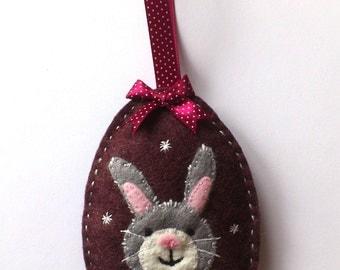 Felt Easter bunny decoration