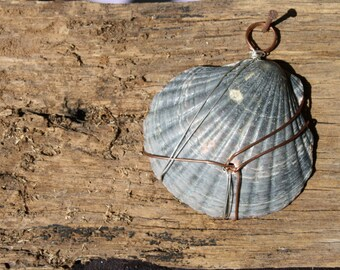 Shell Pendant Wire Wrapped Beach Boho