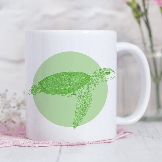 Coffee Mug Green Sea Turtle Coffee Cup