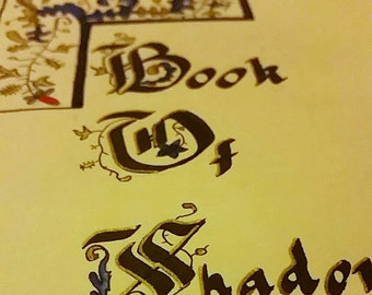 Book of Shadows cover page with Pentacle