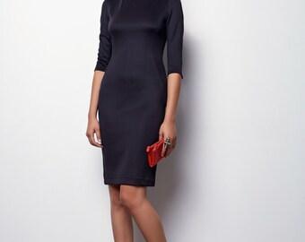 Midi Pencil Dress, black Dress - Nely