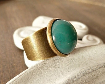 Ring Off Glass/ dark Turquoise
