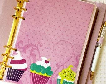 Cupcakes A5 Size Planner Dashboard
