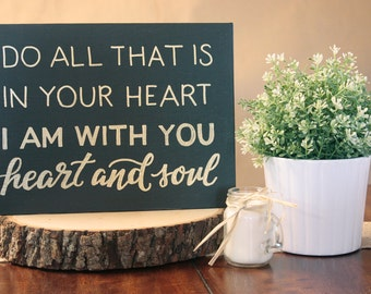 Gold Heart and Soul Canvas