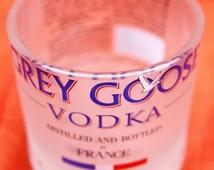 Free Shipping! 2 Grey Goose Rocks Glasses - Upcycled Vodka Bottles