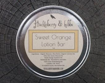 Sweet Orange Lotion Bar - Homemade lotion bar, all natural lotion bar, orange lotion bar