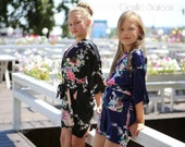 Flower Girl Robe, SPA PARTY ROBES for Girls, Birthday Spa Party, Children's Spa Robe, Kimono Wrap Style Robe