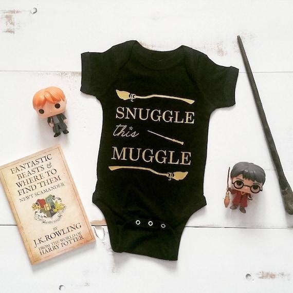 Snuggle this Muggle Onesie // Harry Potter Baby // Baby Onesie