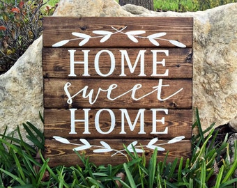 Home Sweet Home |12x12| Personalized Wood Sign | Home Sweet Home Sign | Home Decor Signs | Rustic Sign | Wedding Gift | Wood Sign | Wall Art