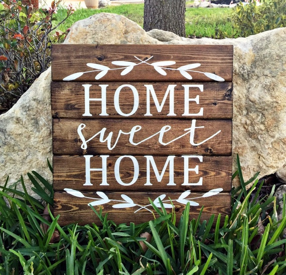Home Sweet Home 12x12 Personalized Wood Sign By