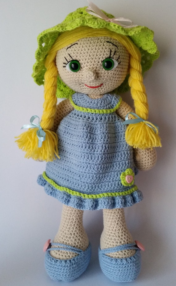 Knitting Pattern Large Rag Doll : Crochet doll amigurumi doll crocheted doll toy by ...