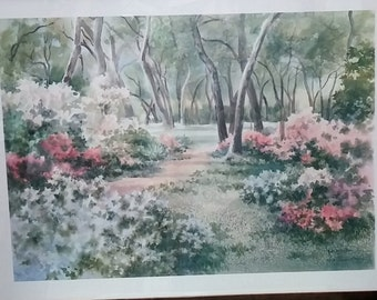 Ruth Basler Burr lithograph (signed in pencil) Country Meadow