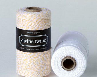 Divine Twine in Lemon- (240 yds) Yellow and White