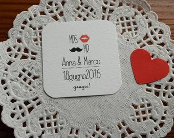 "10 tags wedding favor ""hipster wedding"""