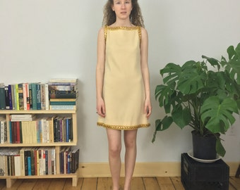 50% off sale! wool and sequin 60s shift dress (s)