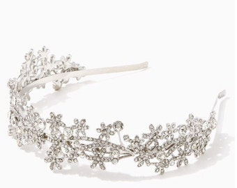Bridal Headpiece, Bridal Headband, Wedding Headpiece, Wedding Headband, Rhinestone Headband, Hair Accessories, Bridal Tiara, Silver Headband