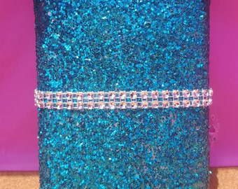 Glitter Stainless Steel Flask (8oz), (Your Choice of Color), Pink Flask, Turquoise Flask, Bridesmaid Flask, Silver Flask, Gold Flask