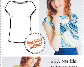 Easy Blouse Pattern - PDF Sewing Pattern