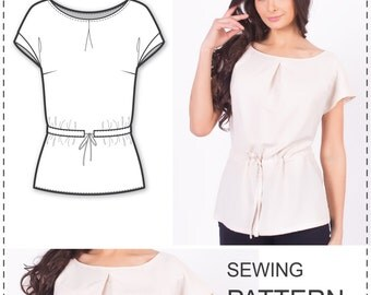 Blouse Patterns - Sewing Patterns - Easy Sewing Projects - Clothing Patterns - Sewing Pattern - Plus Size Sewing Patterns - Easy Patterns