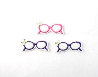 Sunglasses feltie - Sunglasses feltie - Sun felt bow - Sunglasses embellishment -  Sunglasses bow center - Sunshine hair bow - Sun baby