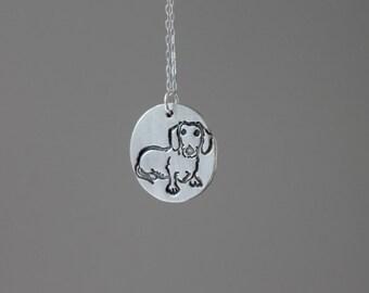 Dachshund - Dog fine silver pendant