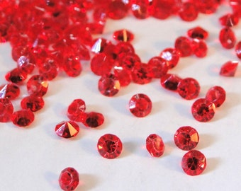 July Birthstones Floating Charms Ruby Red