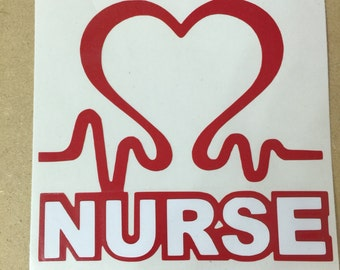 Nurse with Heart Beat Decal