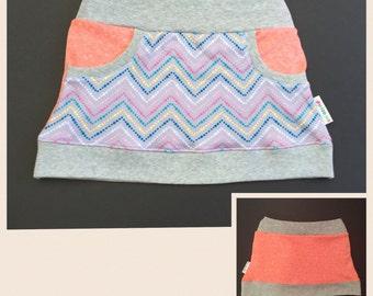 girl skirt grey,  toddler skirt grey, baby skirt grey, sweat skirt mini skirt baby knit skirt jerseyskirt sweatskirt knitskirt pocket skirt