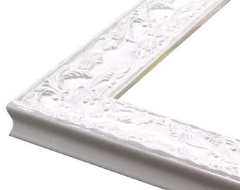 renaissance white gloss ornate frame 1 34 3x54x65x76x88x109x1211x1412x1614x1816x2018x24 20x2420x3022x2824x3024x36