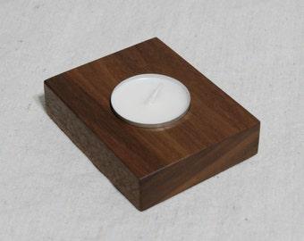 Walnut candle holder