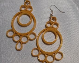 Lg Metallic Gold Earrings