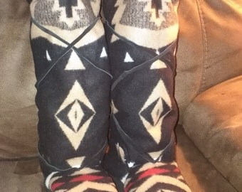 Wool Mukluks made with Pendleton Fabric