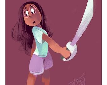 Connie Maheswaran - A Steven Universe Art Print