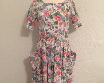 Vintage Handmade Floral Dress