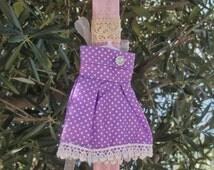 Greek Easter candle (lampada) with polka-dot dress