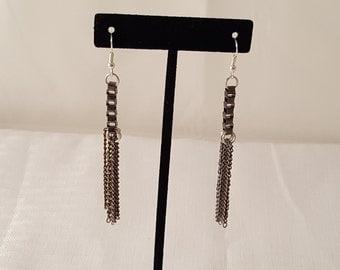 Chain Earrings - Women's Earrings - Women's Chain Earrings - Dangle - Dangle Earrings - Women's Dangle Earrings - Chain - Earrings - Metal
