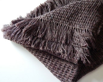 Handwoven blanket, natural cover, handwoven linen blanket, small blanket, linen summer blanket, handwoven sofa throw, bed throw, sofa cover