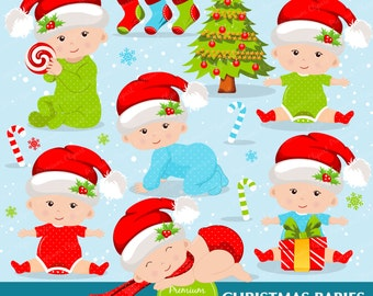 Christmas babies clipart commercial use, christmas baby clipart, christmas baby clip art, christmas clipart - CA270