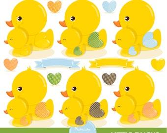 Rubber duck clipart, Rubber ducky, duck clipart, baby clipart, baby shower clipart, ducks clipart - CA309