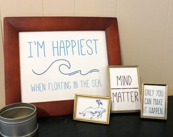 Mind Over Matter Art Print, Inspirational Art, Custom Art Print, Home Decor Art, Printable Art